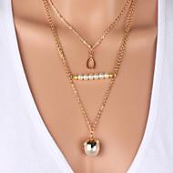 Женский Ожерелья с подвесками Пряди Ожерелья Слоистые ожерелья Pearl Пряди Жемчужные ожерелья Жемчуг Искусственный жемчуг Позолота Сплав