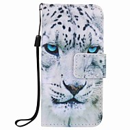 Custodia per cellulare con custodia in leopardo bianco per apple itouch 5 6 custodie / cover per iPod