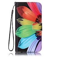 Недорогие Чехлы и кейсы для Galaxy S8-Кейс для Назначение SSamsung Galaxy S8 Plus S8 Кошелек Бумажник для карт со стендом Чехол Цветы Твердый Искусственная кожа для S8 S8 Plus