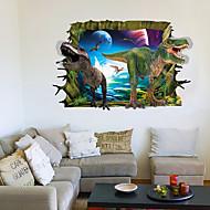 애니멀 / 풍경 / 3D 벽 스티커 플레인 월스티커 / 3D 월 스티커 데코레이티브 월 스티커,PVC 자료 이동가능 홈 장식 벽 데칼