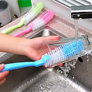 abordables Escobillas y cepillos de mano-Alta calidad 1pc El plastico Cepillo y Trapo de Limpieza Utensilios, Cocina Limpiando suministros