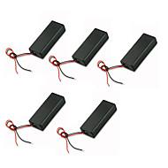 5db aaa kétrészes fedéllel, vörös és fekete elemtartó akkumulátor kapcsoló