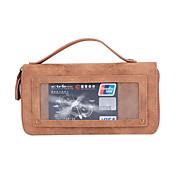 Кейс для Назначение SSamsung Galaxy S7 edge S7 Кошелек Бумажник для карт Флип Чехол Сплошной цвет Твердый Натуральная кожа для S7 edge S7