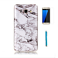 cheap Cases / Covers for Samsung-Case For Samsung Galaxy J7(2016) J3(2016) Pattern Back Cover Marble Soft TPU for J7 (2016) J7 J5 J3 (2016) Grand Prime