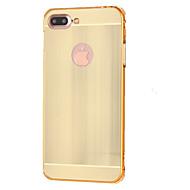 Назначение iPhone X iPhone 8 iPhone 7 iPhone 7 Plus Чехлы панели Защита от удара Задняя крышка Кейс для Сплошной цвет Твердый Металл для