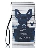 Недорогие Чехлы и кейсы для Galaxy J-Кейс для Назначение SSamsung Galaxy J5 (2016) Бумажник для карт Кошелек со стендом Чехол С собакой Твердый Кожа PU для J5 (2016) J5