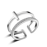 Damskie Obrączki Pierścionki na środek palca Kryształ sztuczna Diament Multi-sposoby Wear biżuteria kostiumowa Sexy przejście Modny