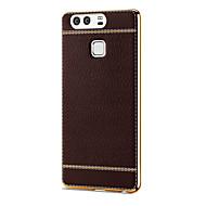 Для Покрытие Кейс для Задняя крышка Кейс для Один цвет Мягкий Искусственная кожа HuaweiHuawei P9 / Huawei P9 Plus / Huawei Honor 8 /