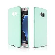 Для Кейс для  Samsung Galaxy Ультратонкий Кейс для Задняя крышка Кейс для Один цвет Мягкий TPU SamsungS7 edge / S7 / S6 edge plus / S6