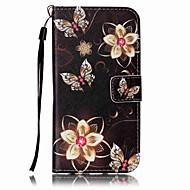 Недорогие Чехлы и кейсы для Galaxy S8 Plus-Кейс для Назначение SSamsung Galaxy S8 Plus S8 Бумажник для карт Кошелек со стендом Чехол Бабочка Твердый Кожа PU для S8 Plus S8 S7 edge