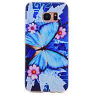 cheap Cases / Covers for Samsung-Case For Samsung Galaxy S8 Plus S8 Pattern Back Cover Butterfly Soft TPU for S8 Plus S8 S7 edge S7 S6 edge S6 S5 S4 S3