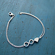 Women's Chain Bracelet Charm Bracelet Basic Unique Design Love Heart Fashion Alloy Heart Infinity Jewelry For Party Daily Casual