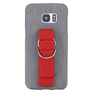 Недорогие Чехлы и кейсы для Galaxy S7-Кейс для Назначение Другое SSamsung Galaxy S7 edge S7 Ультратонкий Кейс на заднюю панель Сплошной цвет Мягкий Кожа PU для S7 edge S7 S6