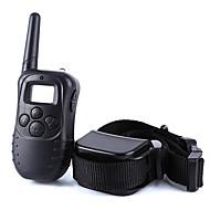 お買い得  ペット用品 & アクセサリー-犬 樹皮の首輪 犬しつけようカラー アンチ犬叫 300M リモートコントロール 電子/エレクトリック LCD バイブレーション ソリッド プラスチック ブラック