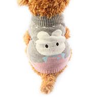billige Kæledyr Forsyninger-Kat Hund Bluser Hundetøj Tegneserie Grå Grøn Blå Bomuld Kostume For kæledyr Herre Dame Sødt Hold Varm