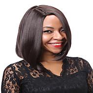 女性 人工毛ウィッグ キャップレス ストレート チェスナットブラウン ブルー ナチュラルウィッグ コスチュームウィッグ