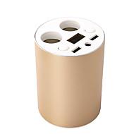 оригинальный двойной USB портов Автомобильное зарядное устройство держатель держатель чашки с 2 розетки напряжение постоянного тока