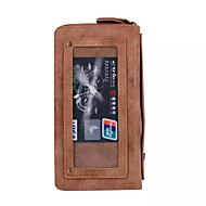 Кейс для Назначение SSamsung Galaxy S7 edge S7 Кошелек Бумажник для карт Чехол Сплошной цвет Твердый Искусственная кожа для S7 edge S7