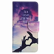 Для samsung galaxy j7 премьер j5 премьер любовь ручная роспись pu phone case