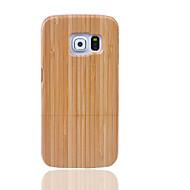 Kılıf Na Samsung Galaxy S7 edge S7 Other Etui na tył Solid Color Twarde Bambus na S7 edge S7 S6 edge plus S6 edge S6