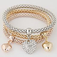 Mujer Pulseras charm Amor Joyería de Lujo Europeo joyería de disfraz Estilo Simple Moda Multi capa Brillante Diamante Sintético Legierung