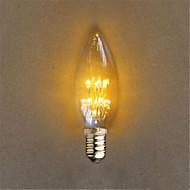 halpa LED-kynttilälamput-1kpl 40lm E14 Sisustusvalaisimet C35 20 LED-helmet Upotettu LED Koristeltu Keltainen 220-240V