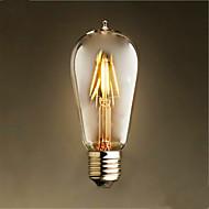 1 kpl 4w e26 / e27 led-hehkulamppuja st58 4-lediä kynttilän koriste himmennettävä lämmin valkoinen 300-350lm 2300-2800k ac 220-240v