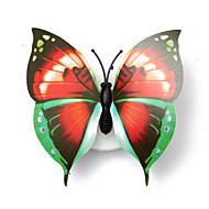 3pcsの素敵な創造的な色変更腹筋の蝶は、夜間照明はLEDランプ美しい家の装飾的な壁nightlights(スタイルランダム)