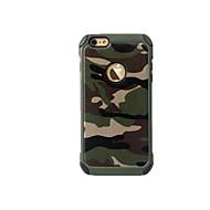 Недорогие Кейсы для iPhone 8 Plus-Кейс для Назначение Apple iPhone 8 iPhone 8 Plus iPhone 6 iPhone 7 Plus iPhone 7 Защита от удара Кейс на заднюю панель Камуфляж Твердый ПК