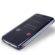 Para Samsung Galaxy Note Cromado / Flip / Transparente Capinha Corpo Inteiro Capinha Cor Única PC Samsung Note 5
