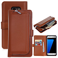 for Samsung Galaxy S8 Plus The New Plain Leather Wallet Zipper Versatile Combo for Samsung Galaxy S5 S6 S6Edge S7 S7Edge