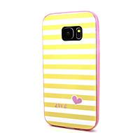 olcso Galaxy S6 Edge Plus tokok-Case Kompatibilitás Samsung Galaxy S7 edge S7 IMD Minta Fekete tok Vonalak / hullámok Puha PC mert S7 edge S7 S6 edge plus S6 edge S6 S5