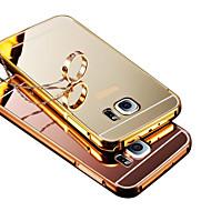 Для Чехлы панели Покрытие Зеркальная поверхность Задняя крышка Кейс для Один цвет Твердый PC для SamsungS8 Plus S8 S6 edge plus S6 edge