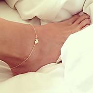Недорогие $0.99 Модное ювелирное украшение-Ножной браслет - Сердце, Любовь европейский Серебряный / Золотой Назначение Свадьба / Повседневные / Жен.