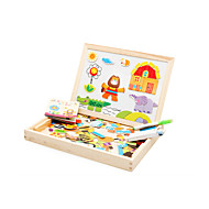Magnet Toys Educational Toy Jigsaw Puzzle Toys Elephant House Horse Crocodile Animals Novelty Pieces