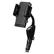お買い得  -車載 ユニバーサル 携帯電話 マウントスタンドホルダー アダプタ付きスタンド 調整可能なスタンド ユニバーサル 携帯電話 プラスチック ホルダー
