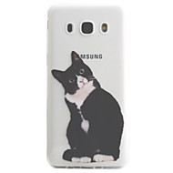 voordelige Galaxy J5 Hoesjes / covers-hoesje Voor Samsung Galaxy J5 (2016) J3 (2016) Transparant Patroon Achterkantje Kat Zacht TPU voor J5 (2016) J5 J3 (2016) J3
