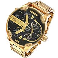 voordelige Chic horloge-Heren Modieus horloge Polshorloge Militair horloge Dress horloge Kwarts Kalender Punk Dubbele tijdzones Legering Band Amulet Luxe
