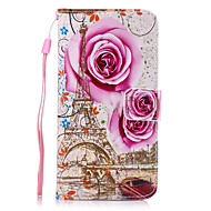 Недорогие Galaxy Core 2-Для Кошелек / Бумажник для карт / со стендом Кейс для Чехол Кейс для Цветы Твердый Искусственная кожа для SamsungGrand Prime / Core Prime