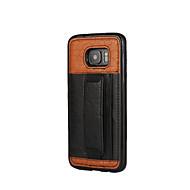 Недорогие Чехлы и кейсы для Galaxy S6 Edge Plus-Кейс для Назначение SSamsung Galaxy S7 edge S7 Бумажник для карт Защита от удара Задняя крышка Сплошной цвет Мягкий Искусственная кожа для