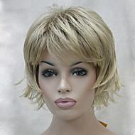 お買い得  -人工毛ウィッグ ウェーブ レイヤード・ヘアカット バング付き 密度 キャップレス 女性用 カーニバルウィッグ ハロウィンウィッグ 合成