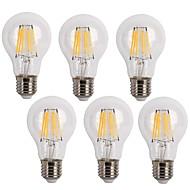 tanie Żarówki filament LED-KWB 6szt 600 lm E26/E27 Żarówka dekoracyjna LED A60(A19) 6 Diody lED COB Dekoracyjna Ciepła biel Zimna biel AC 220-240 V