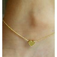 Недорогие $0.99 Модное ювелирное украшение-Ножной браслет - Сердце, Любовь европейский Серебряный / Золотой Назначение Свадьба / Для вечеринок / Повседневные / Жен.