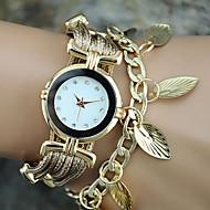 Damskie Modny Zegarek na nadgarstek Zegarek na bransoletce Kwarcowy Kolorowy PU PasmoPostarzane Liście Artystyczny Z Wisorkami