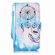 Blue Campanula Painting PU Phone Case for apple iTouch 5 6 iPod Cases/Covers