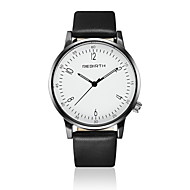 REBIRTH Муж. Модные часы Наручные часы Кварцевый / Кожа Группа Повседневная минималист Черный Белый