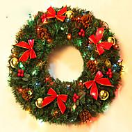 abordables Decoraciones de Celebraciones y Fiestas-la decoración de navidad corona de agujas de pino de navidad para los de 40 cm de diámetro fiesta en casa navidades Fuentes de Año Nuevo