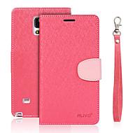 Недорогие Чехлы и кейсы для Galaxy Note 2-Кейс для Назначение SSamsung Galaxy Бумажник для карт Кошелек со стендом Флип Чехол Сплошной цвет Твердый Кожа PU для Note 5 Note 4 Note