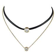 billige -Dame Flydende Kort halskæde Tatovering Choker wrap halskæde Damer Tatovering Basale Mode Guld Halskæder Smykker Til Afslappet