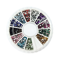 2000 Nail Art Decoration tekojalokivi Pearls meikki Kosmeettiset Nail Art Design